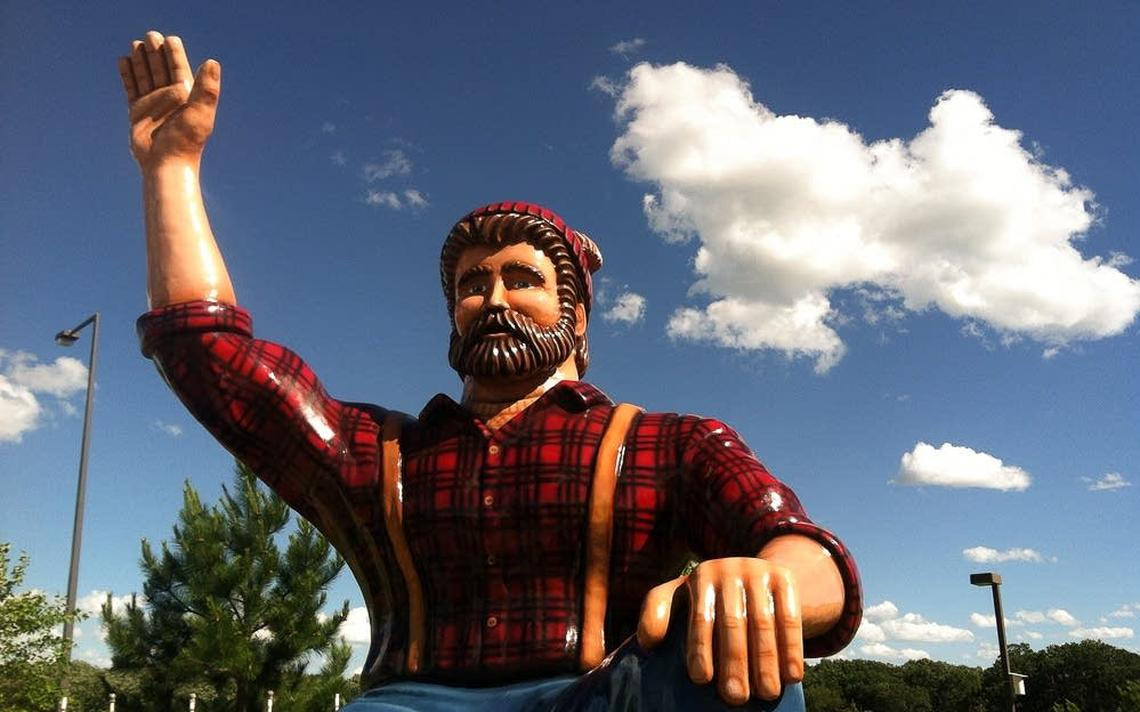 A statue of Paul Bunyan can also be found at the Brainerd Welcome Center in Minnesota. (Meg Martin | MPR News)