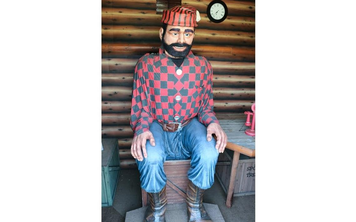 The Paul Bunyan statue at Paul Bunyan Land in Brainerd is animatronic and greets visitors by name. Photo courtesy by Paul Bunyan Land