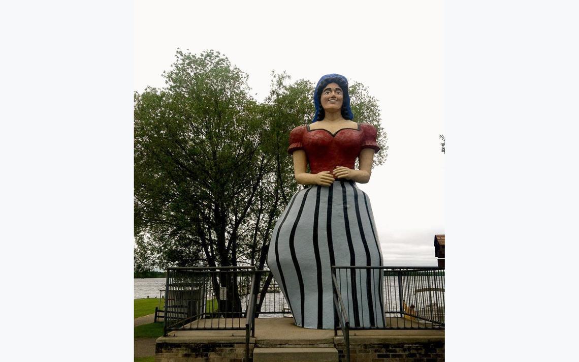 Paul Bunyan's sweetheart Lucette Diana Kensack is located in Hackensack, Minn. (Meg Martin | MPR News)