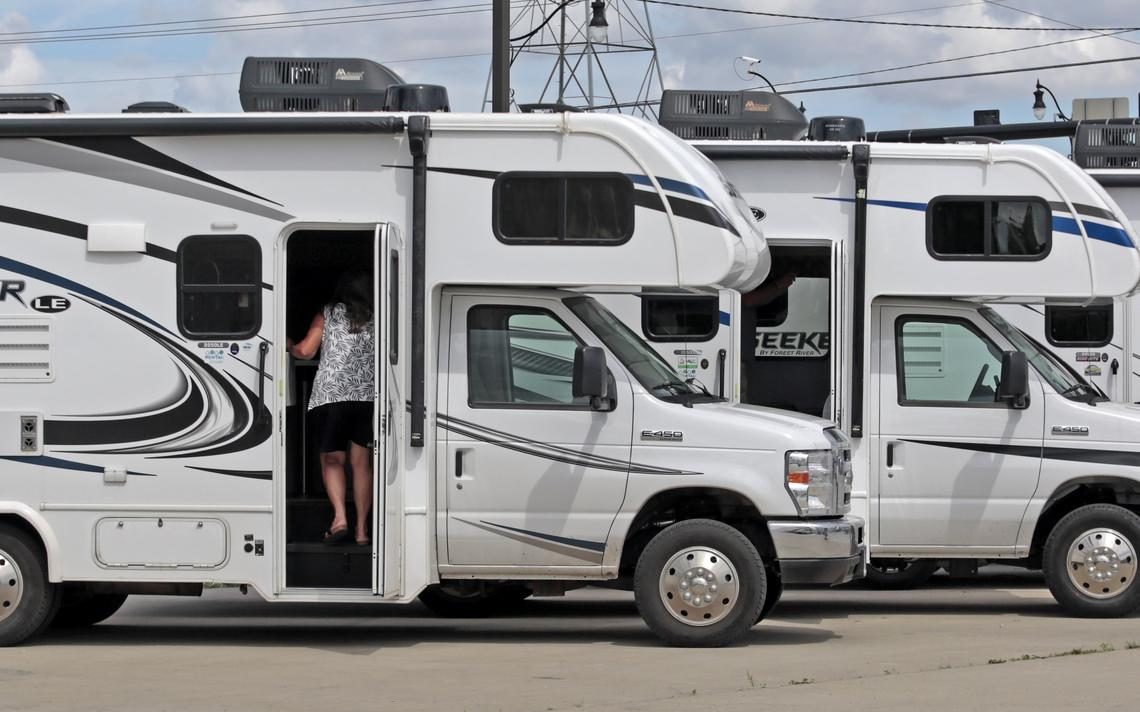 Sunseeker RV's are displayed at GoGo Rental located at 1721 E. Main Ave. in West Fargo. David Samson / The Forum