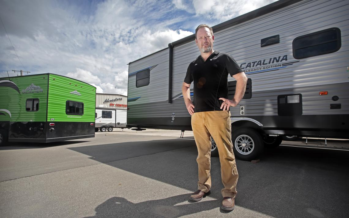 Mike Boe is the general manager at Adventure RV Center located at 1220 Main Ave. W. in West Fargo. David Samson / The Forum