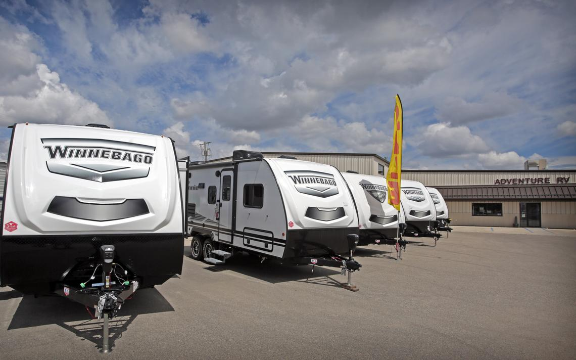 Winnebago is one of the featured brands at Adventure RV Center located at 1220 Main Ave. W. in West Fargo. David Samson / The Forum