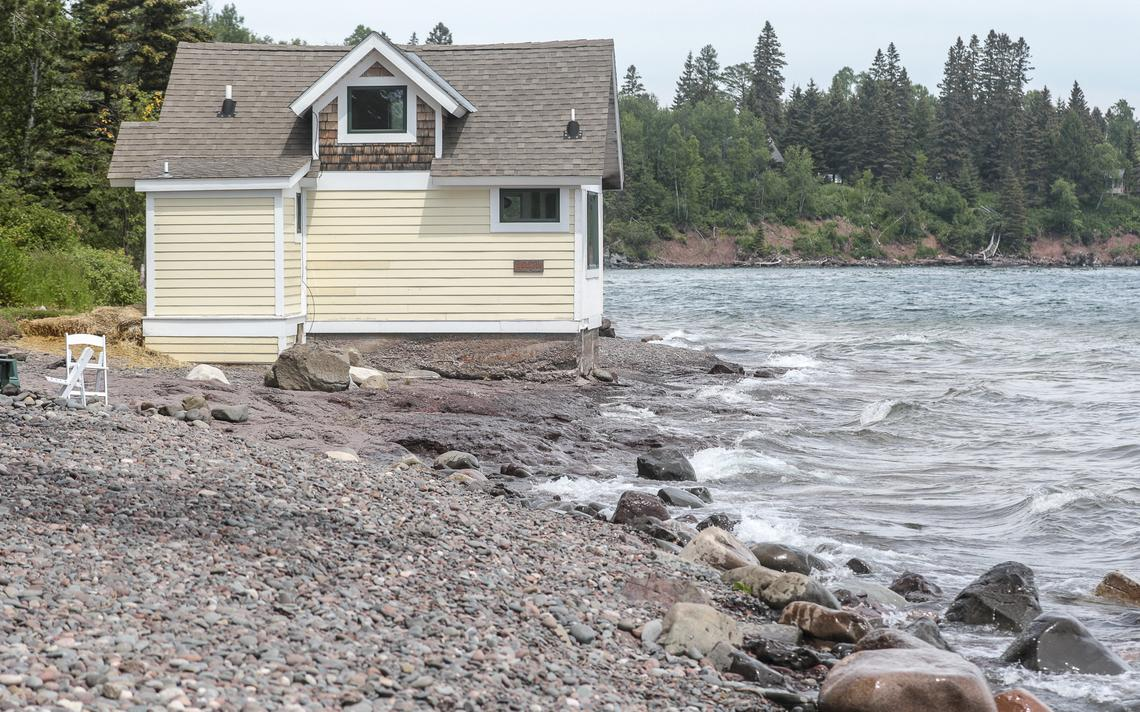 One of the cottages on the shore of Lake Superior at Grand Superior Lodge near Two Harbors. (Clint Austin / caustin@duluthnews.com)
