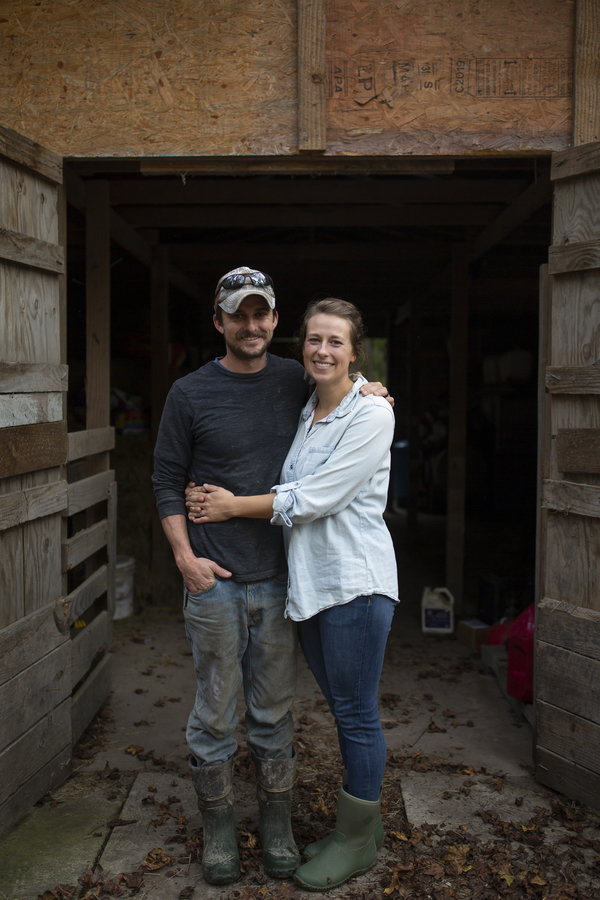 Joe and Rachel Shenk hope to add cows in the near future as they continue to farm full-time in Newport, N.C.
