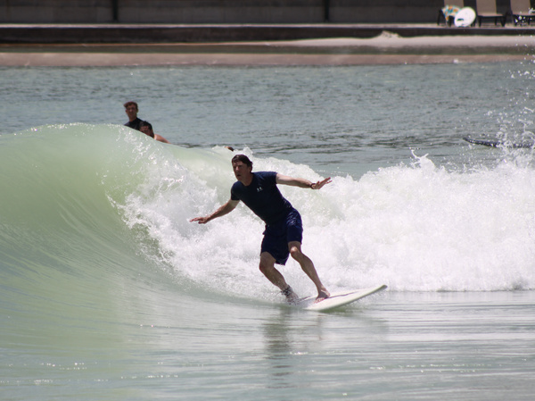 NPR's Jon Hamilton caught a few waves at the BSR Surf Resort this summer, and found they rivaled the ones he surfed in Southern California growing up.